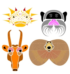 wild animals australia vector image