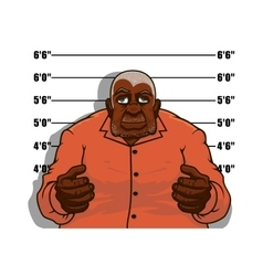 Cartoon gangster man or prisoner vector