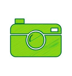 digital photo camera sign lemon scribble vector image