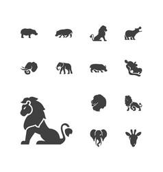 13 safari icons vector