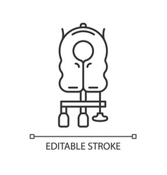 Aircraft passenger life vest linear icon vector