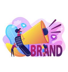 Brand awareness concept vector