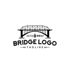 Bridge logo design vector