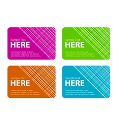 Business Cards with Checked Texture vector image