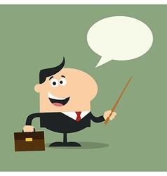 Businessman Holding a Pointer Cartoon vector