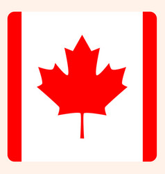 canada square flag button social media vector image