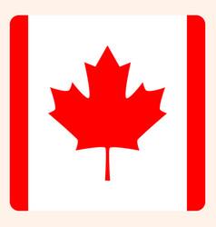 Canada square flag button social media vector