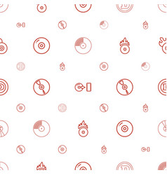 Cd icons pattern seamless white background vector