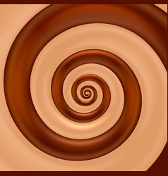 Chocolate mix spiral color vector