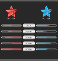 comparison table two players a sports team vector image