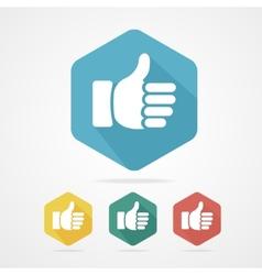 Cursor thumb up like good social vector image