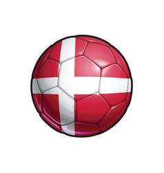 Danish flag football - soccer ball vector
