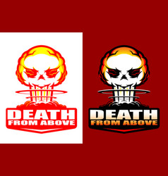 Death from above insignia style 2 versions vector