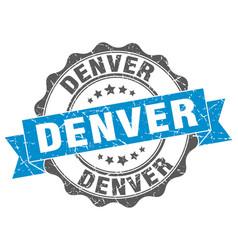Denver round ribbon seal vector