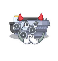 Devil combustion engine cartoon in character vector