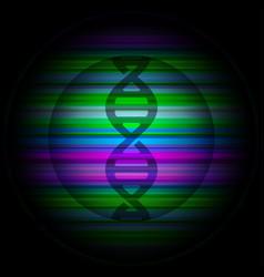 Dna gene logo double spiral lighting vector