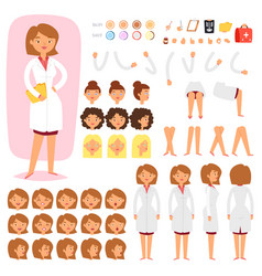 doctor constructor creation of female vector image