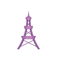 Eiffel Tower icon in cartoon style vector image
