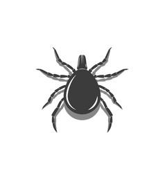 encephalitis mite warning sign 3d silhouette vector image