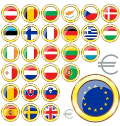 European Union buttons vector image