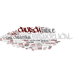 evangelical word cloud concept vector image