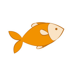 Fish animal icon vector