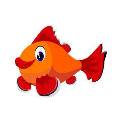 fish cartoon or clipart cartoon isolated vector image