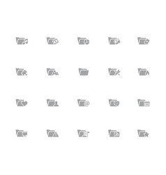 Folder icons - 2 2 32 pixels icons white vector