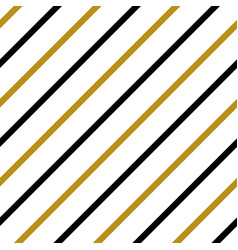 Gold black white strip line seamles pattern vector