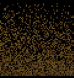gold disco glitter background vector image