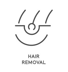 Hair removal sugaring or waxing laser vector