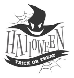 halloween trick or treat logo sign vector image