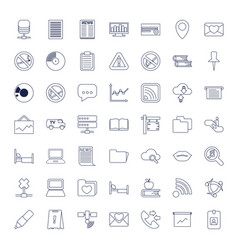 Information icons vector