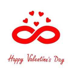 Limitless red sign with heart symbol Infinity icon vector image