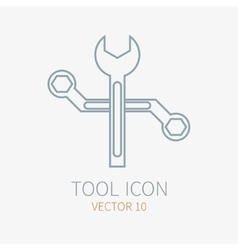 Line working color wrench for construction vector