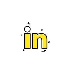 Linkedin icon design vector