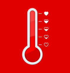 Love thermometer in paper cut style love meter in vector