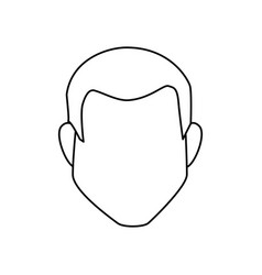 man avatar character icon vector image