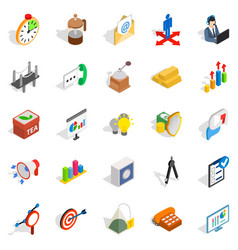 Model icons set isometric style vector