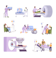 oncology flat set vector image