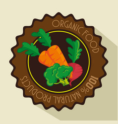 Organic vegetables design vector
