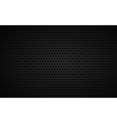 Perforated black metallic background vector