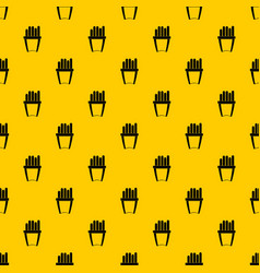 portion of french fries pattern vector image