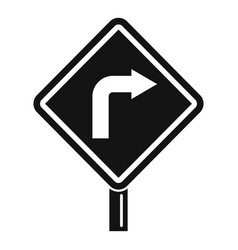 Road direction indicator icon simple style vector
