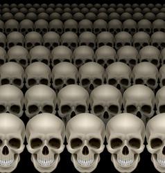 Rows skulls vector