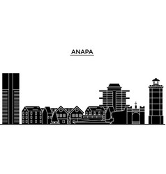 russia anapa architecture urban skyline with vector image