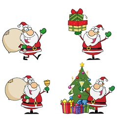 Santa Claus Cartoon Characters vector image