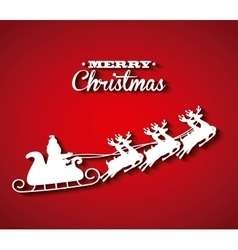 Santas sleigh icon merry christmas design vector