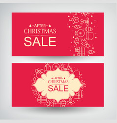 Set of two christmas sale banners vector