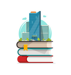 smart city concept icon flat cartoon vector image